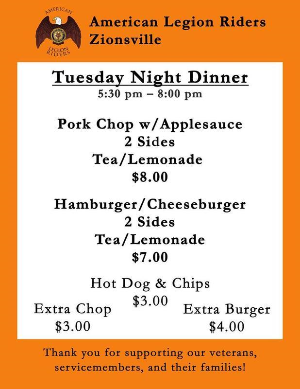 Burger Night Menu